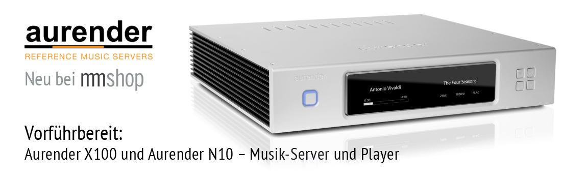 Aurender N10 und X100 Musik-Server